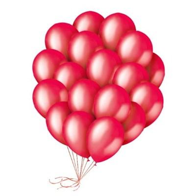 Шары красные 30 см. с гелием - фото 4467