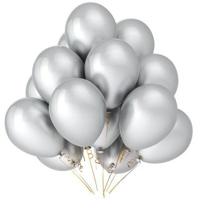 Серебряные шары металлик - фото 4955