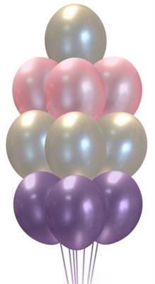 Фонтан из шаров металлик - фото 5075