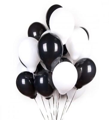 Черные и белые шары металлик - фото 5131