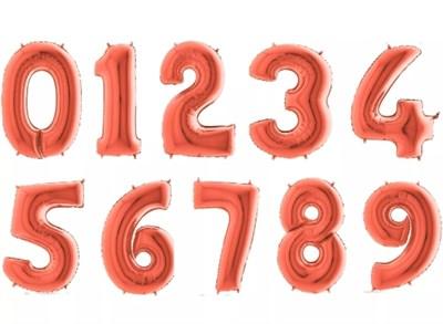 """Большие фольгированные цифры с гелием, цвет """"Розовое золото"""" - фото 5338"""