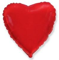 """Фольгированный красный шар """"Сердце"""" (45 см.) с гелием"""