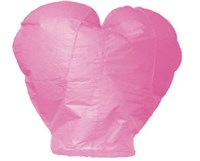 Небесный фонарик, розовое сердце