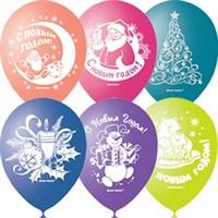 """Облако из воздушных шаров """"С Новым Годом"""""""