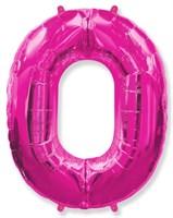 """Фольгированный шар """"большая цифра """"0"""" розовая"""