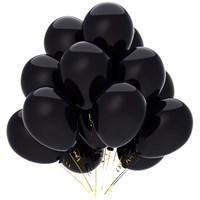 Черные шары металлик/перламутр, 30 см. с гелием