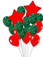 Фонтан из шаров и красных звезд для мужчин
