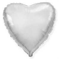 """Фольгированный серебряный шар """"Сердце"""" (45 см.)"""