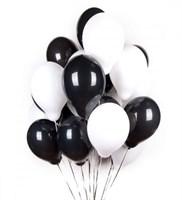 Черные и белые шары металлик