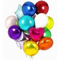 """Фольгированные шары """"Круг, Звезда, Сердце"""" (45 см.) ассорти с гелием"""