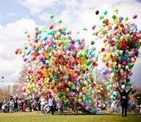 Запуск 200 шаров из сетки