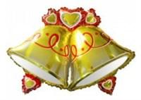 Большой фольгированный шар Колокольчики с гелием