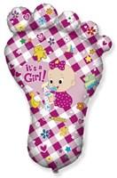 Детская Ножка, фольгированный шар с гелием 95см