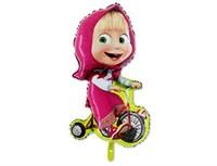 Маша на велосипеде, фольгированный шар с гелием 97 см