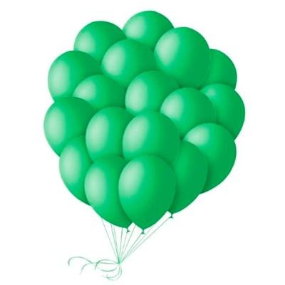 Шары зеленые 30 см. с гелием - фото 4471