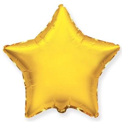 """Фольгированный шар """"Золотая звезда"""" - фото 4504"""