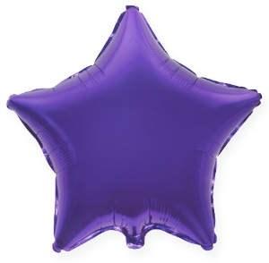 """Фольгированный шар """"Фиолетовая звезда"""" - фото 4508"""