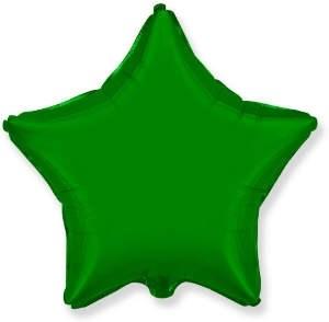 """Фольгированный шар """"Зеленая звезда"""" - фото 4509"""