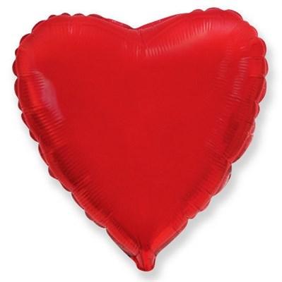 """Фольгированный красный шар """"Сердце"""" (45 см.) с гелием - фото 4511"""