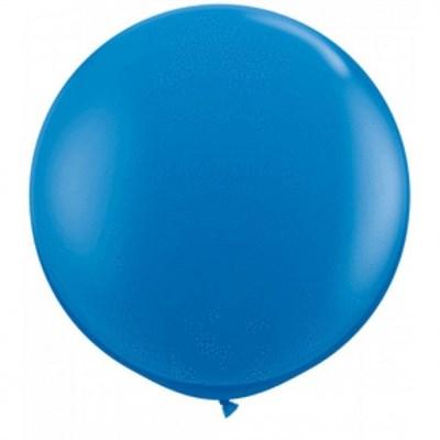 Большой синий шар, 80 см. - фото 4673