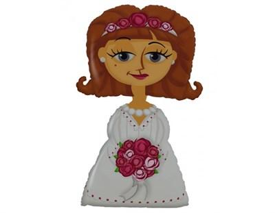 "Ходячий шар ""Невеста"" с гелием - фото 4693"