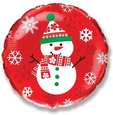 """Фольгированный шар """"Снеговик"""" - фото 4912"""