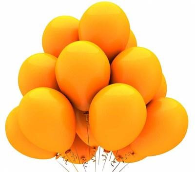 Шары оранжевые с гелием - фото 4960