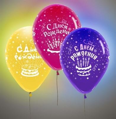 """Светящиеся шары """"С Днем Рождения!"""" 30 см. с гелием - фото 4982"""