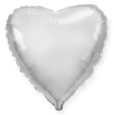 """Фольгированный серебряный шар """"Сердце"""" (45 см.) - фото 5093"""