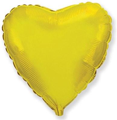 """Фольгированный золотой шар """"Сердце"""" (45 см.) - фото 5095"""