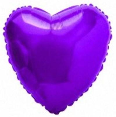 """Фольгированный фиолетовый шар """"Сердце"""" (45 см.) - фото 5098"""