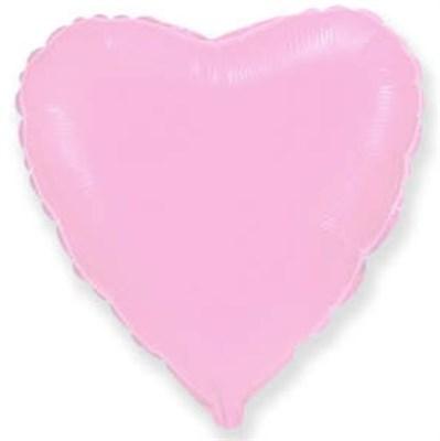 """Фольгированный розовый шар """"Сердце"""" (45 см.) - фото 5104"""
