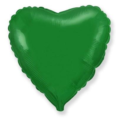 """Фольгированный зеленый шар """"Сердце"""" (45 см.) - фото 5109"""