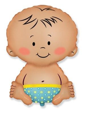 """Большой фольгированный шар """"Малыш"""" - фото 5165"""