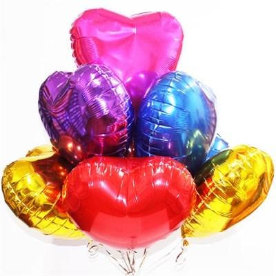 """Фольгированные шары """"Сердце"""" ассорти (45 см.) - фото 5176"""