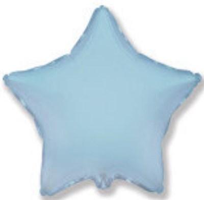 """Фольгированный шар """"Светло-голубая звезда""""  - фото 5270"""