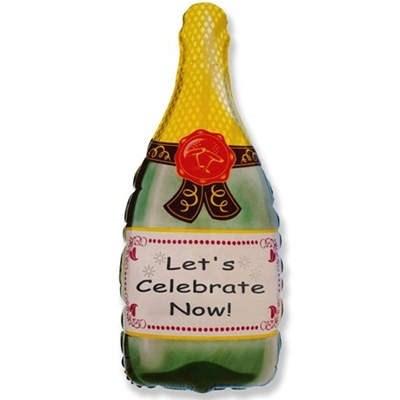Бутылка шампанского, фольгированный шар 81 см - фото 5426