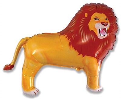 Лев,  фольгированный шар с гелием 83 см - фото 5427