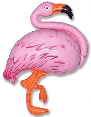 Фламинго, фольгированный шар с гелием 103 см - фото 5428