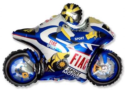 Мотобайк, фольгированный шар с гелием 73см. - фото 5433