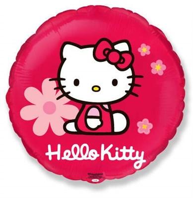 Фольгированный шар  Hello Kitti c гелием 45 см. - фото 5438