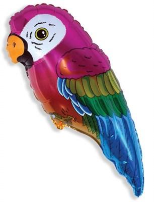 Попугай, фольгированный шар с гелием 65 см. - фото 5443