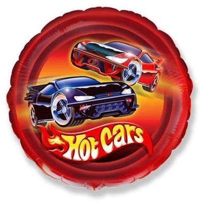 """Фольгированный шар """"Hot Cars"""" с гелием 45см. - фото 5444"""