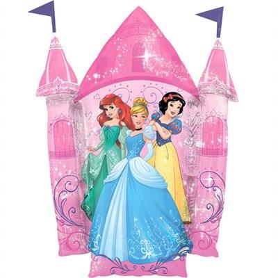 Замок с принцессами, фольгированный шар с гелием 88см. - фото 5455