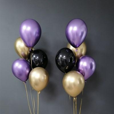 Композиция №302 с хромированными шарами - фото 5890