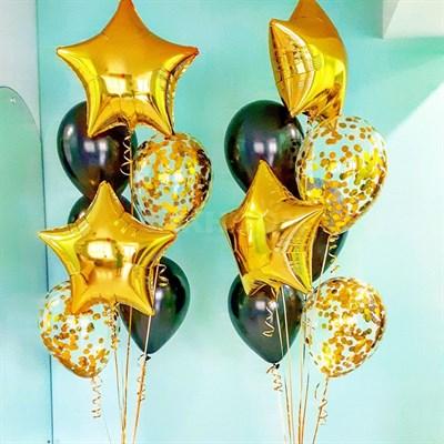 Композиция №307 со звездами и шарами с конфетти - фото 5896