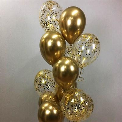 Композиция №314 с шарами с конфетти - фото 5905