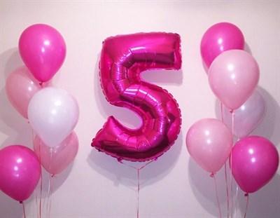 Композиция №320 с розовой цифрой - фото 5912
