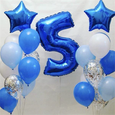 Композиция №326 с цифрой и звездами - фото 5920