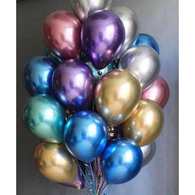 Композиция №329 из хромированных шаров - фото 5924
